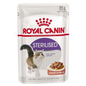 Ração Royal Canin - Sachê Feline Sterilised - Para Gatos Castrados 85g