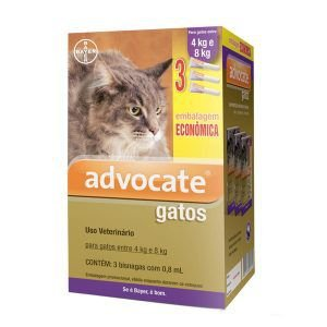 Antipulgas Bayer Advocate - Kit Combo Para Gatos