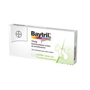 Baytril Flavour Antibiótico Bayer em Comprimidos