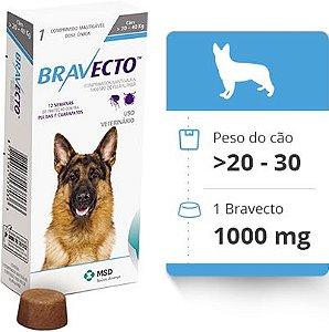 Bravecto Antipulgas E Carrapatos Cães De 20 - 40 Kg 1000mg