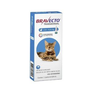 Bravecto Antipulgas e Carrapatos Transdermal para Gatos de 2,8-6,25KG - 250MG