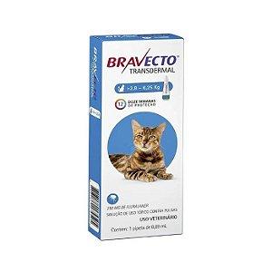 Bravecto Antipulgas e Carrapatos Transdermal para Gatos de 2,8-6,25KG - 250MG