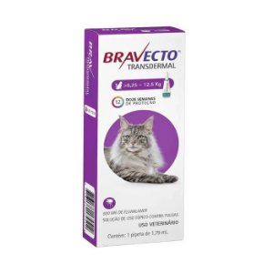 Bravecto Antipulgas e Carrapatos Transdermal para Gatos de 6,25-12,5KG - 500MG