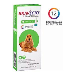 Bravecto Antipulgas e Carrapatos Transdermal para Cães entre 10 a 20KG - 500MG
