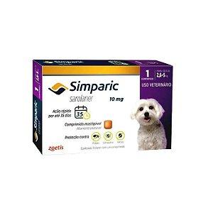 Simparic Antipulgas 10mg - Para Cães de 2,6 a 5Kg