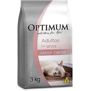Ração de Carne Optimum para Gatos Adultos - 3kg