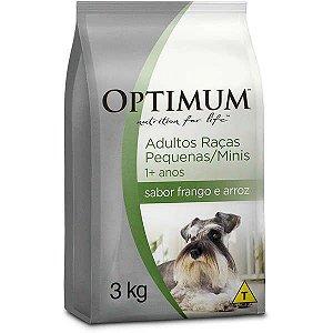 Ração Optimum - Frango e Arroz - Para Cães Adultos Raças Pequenas e Minis - 3kg