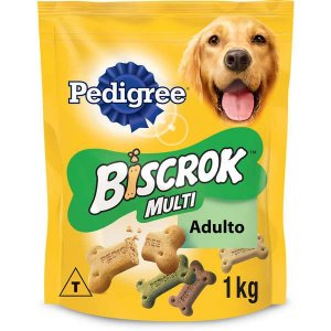 Biscoito Pedigree - Biscrok Multi para Cães Adultos - 1kg
