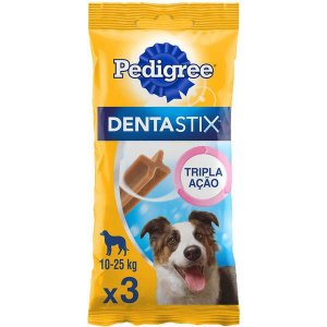 Petisco Pedigree - Dentastix Oral Para Cães Adultos - Raças Médias -3unid