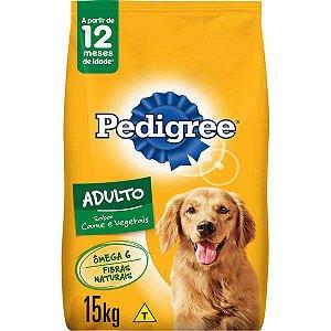 Ração Pedigree - Carne e Vegetais - Para Cães Adultos 15kg