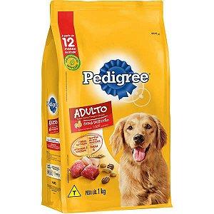 Ração Pedigree - Carne, Frango e Cereais - Para Cães Adultos Raças Médias e Grandes 1Kg