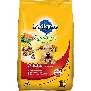 Ração Pedigree - Equilíbrio Natural - Para Cães Adultos Com Mais de 7 anos 15kg