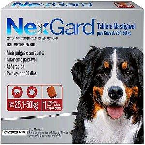 Antipulgas e Carrapatos NexGard - Para Cães de Raças Gigantes de 25,1 a 50Kg - 1 Tablete