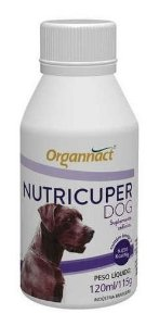 Nutricuper Dog Organnact Pet - Suplemento Para Cães  - 120ml