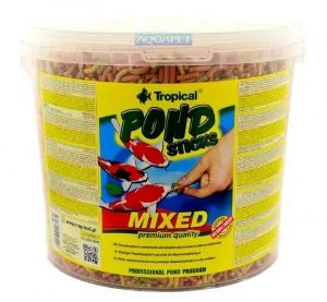 Ração Tropical Pond Koi Basic Sticks Mixed - Para Carpas - Balde de 900g