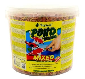 Ração Tropical Pond Koi Basic Sticks Mixed - Para Carpas - Balde de 1500g
