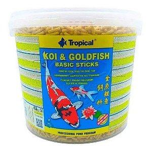Ração Tropical Koi & Goldfish Basic Sticks - Para Peixes - 450g