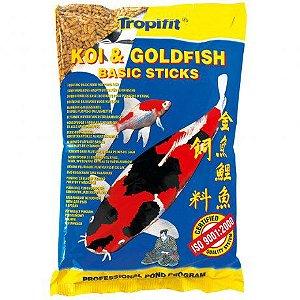 Ração Tropical Koi & Goldfish Basic Sticks - Para Peixes - 800g