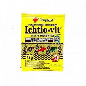 Ração Tropical Ichtio-vit - Para Peixes Ornamentais - Sachê 12g