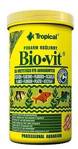 Ração Tropical Bio-Vit - Para Peixes Herbívoros e Onívoros - Pote 20g