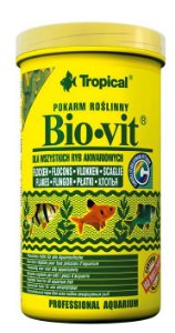 Ração Tropical Bio-Vit - Para Peixes Herbívoros e Onívoros - Pote 100g