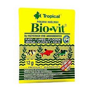 Ração Tropical Bio-Vit - Para Peixes Herbívoros e Onívoros - Pote 12g