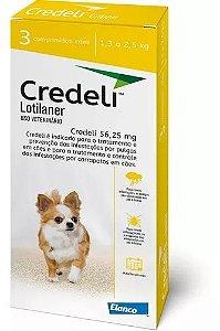 Antipulgas e Carrapatos Elanco Credeli  - Para Cães de 1,3 a 2,5Kg