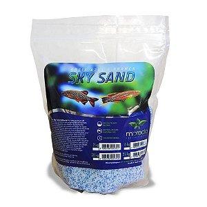 Areia MBreda Sky Sand  Azul e Branca - 2Kg