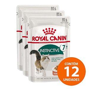 Ração Úmida Royal Canin - Sachê Feline Health Nutrition Instinctive +7 - Para Gatos Adultos 85g - Kit com 12 Unidades