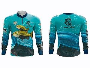 Camisa Manga Comprida Seven Fishing Tambaqui - Gola com Ziper