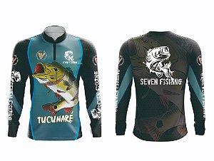 Camisa Manga Comprida Seven Fishing Tucunaréi - Gola com Ziper