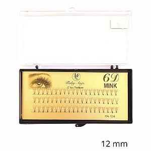 Cilios Tufinho 6D Fio Fio 12MM - WL - RA139