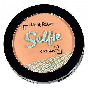 Pó Compacto Facial Selfie Ruby Rose HB-7228 - Bege Natural 04