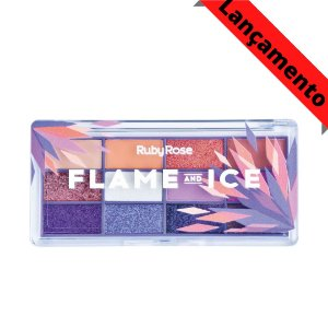 Paleta De Sombras Flame And Ice Ruby Rose Hb-1061