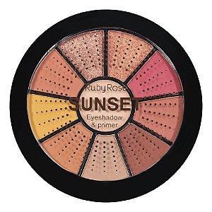 Mini Paleta De Sombras + Primer Sunset Ruby Rose Hb-9986-3