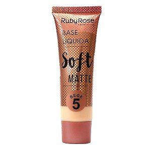 Base Líquida Soft Matte Bege Cor B05  Ruby Rose -  Hb-8053