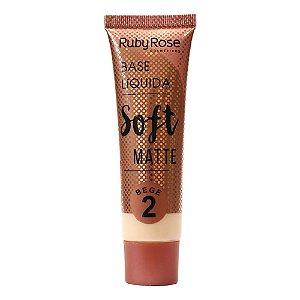 Base Líquida Soft Matte Bege Cor B02  Ruby Rose -  Hb-8050
