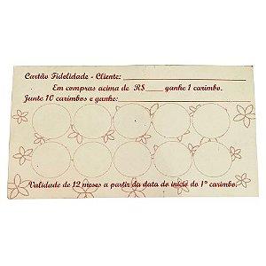 Pacote Cartão Fidelidade 20 Und