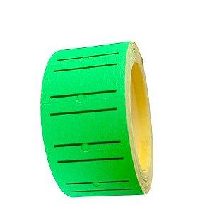 Rolo Etiqueta de Preço 100 Und - Cor Verde Neon
