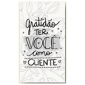 Pacote Tags Gratidão ter Você como Cliente 50 Und