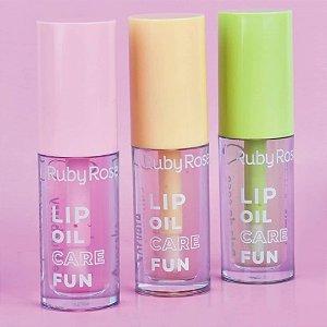 Lip Oil Care Fun Ruby Rose HB-562A - Kit com 3 unidades Sortidas