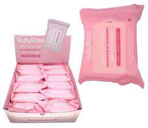 Caixa lenço demaquilante ruby rose hb-200 com 12 unidades