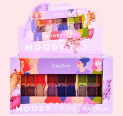 Caixa Paleta de Sombras Moody Type C/12 und - Ruby Rose HB-1054
