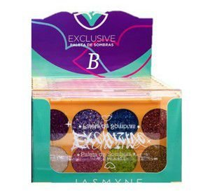 Caixa Paleta de Glitter C/12 und Cor B - Jasmyne JS01058