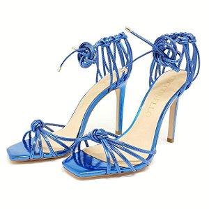 Sandália Cecconello Azul Metalizada