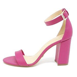 Sandália Cecconello Soft Pink Salto Bloco