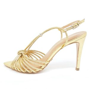 Sandália Cecconello Craquele Dourada