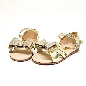 Sandália Molekinha Dourada