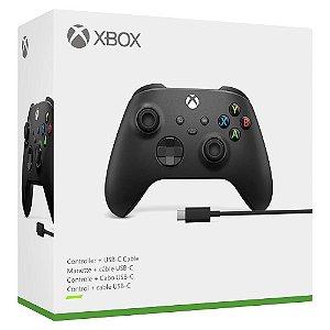 Controle Wireless + Cabo USB-C - Xbox Series X e S