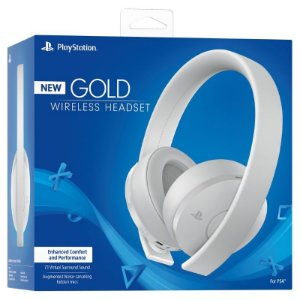 Headset Sony Gold 7.1 Wireless BRANCO - PS4